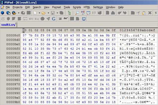 viewing vault in program editor