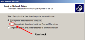 PRN File Setup: add print wizard