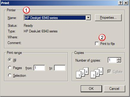 Print File dialog