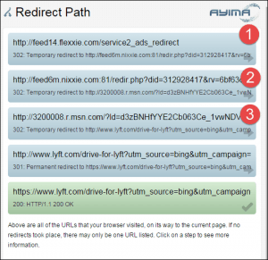 example of ad redirects