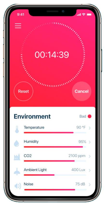 AirDoro phone app with environmental info.