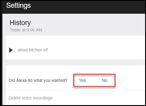 Providing Alexa feedback