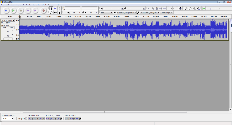 audacity with mp3