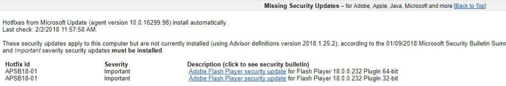 BelArc Advisor missing security fixes