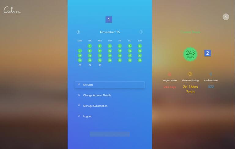 Calm.com app stats