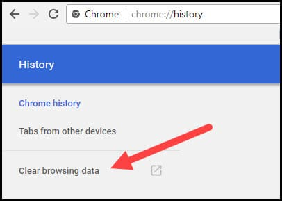 Clear browsing data.