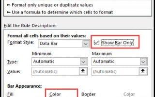 data bar only