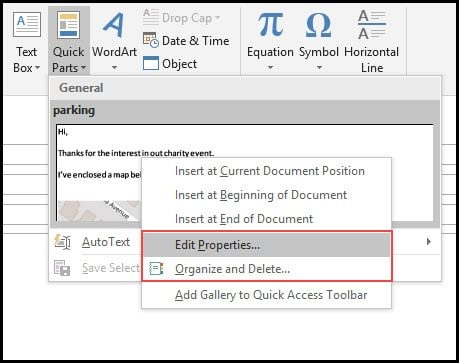 Reusing Text and Images with Outlook Quick Parts \u2022 Productivity