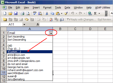 How to Use Excel to Find Invalid Email Addresses • Productivity