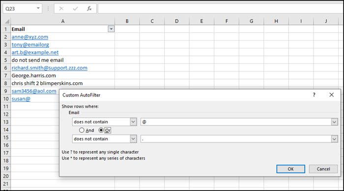 Creating filter using OR logic.