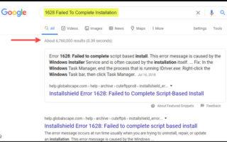 Find & Fix Error Messages