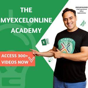 Excel Academy videos