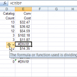Preventing Excel Divide by 0 Error