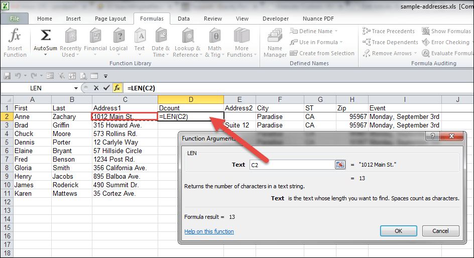 One Letter Words Excel