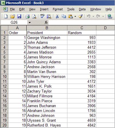 Create random numbers