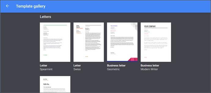 Google Docs letter templates