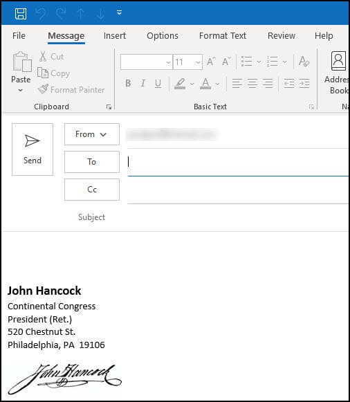 How to Add a Signature in Outlook • Productivity Portfolio