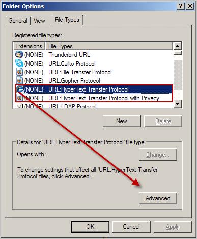 Editing Folder Options file types