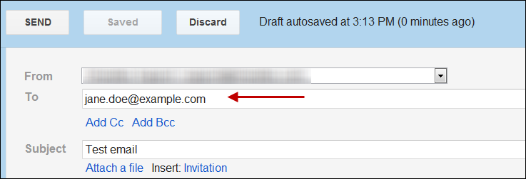gmail captures email address