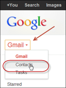 Accessing Contacts from Gmail