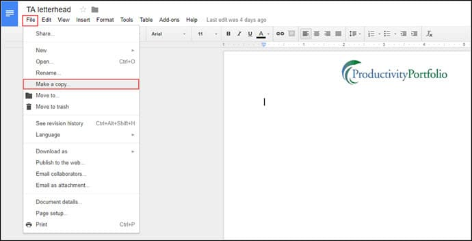 Easy Ways To Make A Google Docs Letterhead Template Tutorial - Google docs make a template