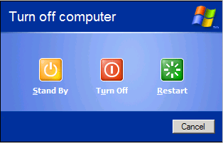 Standy Option on Turn Off Computer