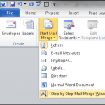 Word Mail Merge Using Excel
