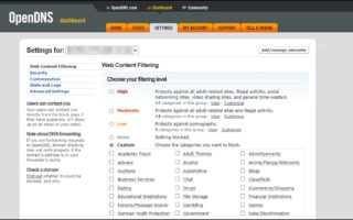OpenDNS custom categories.