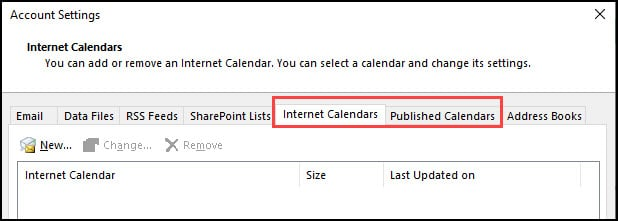 Account Settings section with calendar tabs.