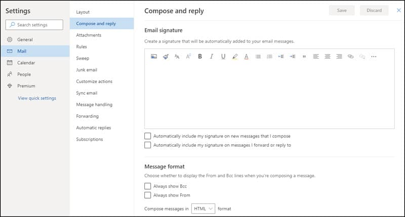 Outlook.com compose and reply panel.