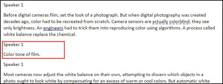 Example of segment causing extra paragraphs.