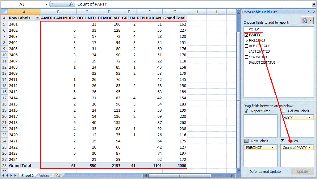 Excel pivot table tutorial sample productivity portfolio pronofoot35fo Image collections