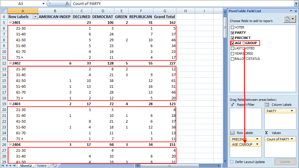 Excel Pivot Table Tutorial Amp Sample Productivity Portfolio