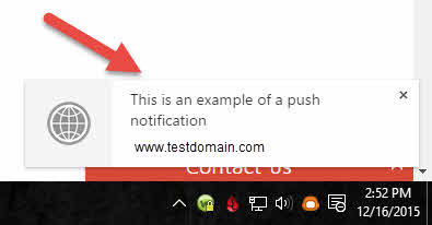 Push notification example in Chrome