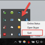 Alternate Way to Close Skype in Windows 10