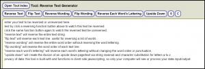 reversing typed text