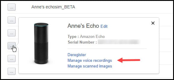 Manage device voice recording