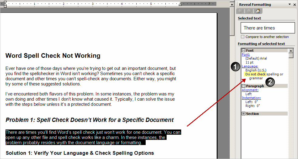 google docs spell check not working