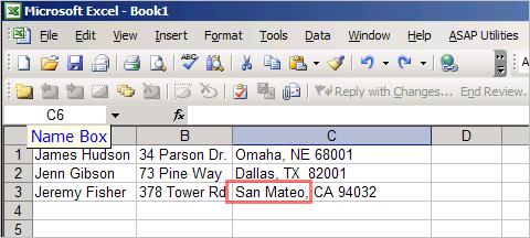 Parsing Excel column