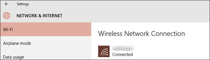 select wi-fi letwork