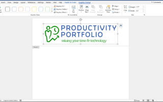 Logo added to header area of document.