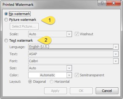 custom watermark dialog